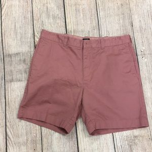 J Crew Reade Style Flat  Front Shorts Size 34